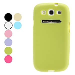 Special Design Soft Case with Stand for Samsung Galaxy S3 I9300 (Assorted Colors) --- COLOR:Green