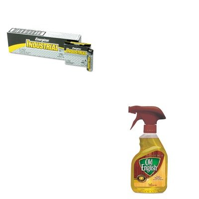 KITEVEEN91RAC82888 - Value Kit - OLD ENGLISH Furniture Polish (RAC82888) and Energizer Industrial Alkaline Batteries (EVEEN91) by OLD ENGLISH