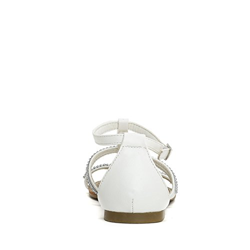 Prendimi Scarpe&Scarpe - Flache Sandalen mit Strasssteinen Weiß