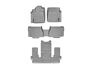 Weathertech 443471-443412 DigitalFit Front /& Rear Over The Hump Floor Liner
