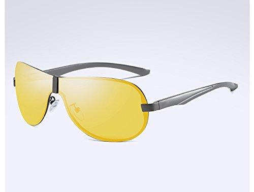 Gafas vision night Gafas Sunglasses Gris Sol Guía Sol Masculina Gafas polarizadas Hombre TL Viajes de para Gafas Visión Sol Sol de Hombres Nocturna de de gray q45xxS