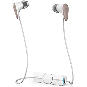 iFrogz Audio - Charisma Female Inspired Wireless Bluetooth Earbuds - White / Rose Gold