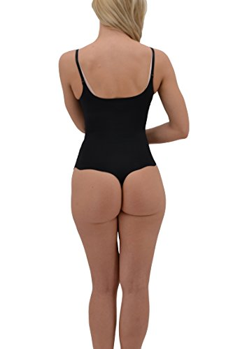fb4c851d16d 8 Of Hearts Seamless Firm Control Shapewear Open Bust Bodysuit Body Shaper  Thong Black