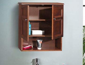 Ark Decor- Recessed Medicine Cabinet - Mahogany Wood Two Door with Adjustable Shelf - Perfect Storage for Your Essentials at Home