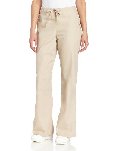 - Landau Women's Comfortable 2-Pocket Drawstring Flare Leg Scrub Pant, Sandstone, X-Large
