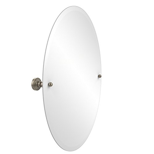 Allied Brass WP-91-PEW Frameless Oval Tilt Mirror with Beveled Edge Antique Pewter