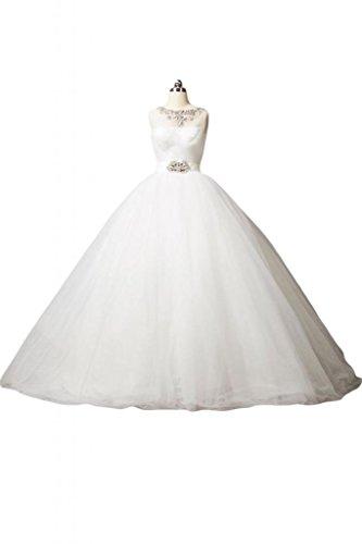 40 bianco Abito Bianco da Donna Sunvary sposa wTq4YxS