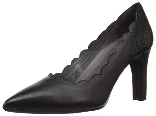 Heels Ride (Aerosoles Women's Taxi Ride Pump, Black Leather, 11 M US)