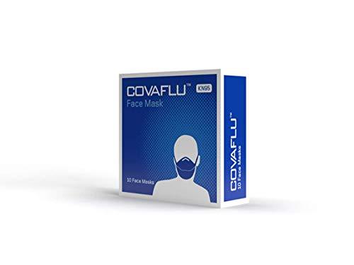 COVAFLU KN95 Disposable Fold Flat Face Mask (Pack of 10 KN95 Face Masks) 31otGxk0n4L