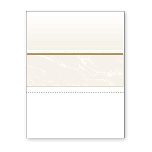 DocuGard Gold Marble Middle Check, 8.5 x 11 Inches, 24 lb, 500 Sheets, 1 Check Per Sheet ()