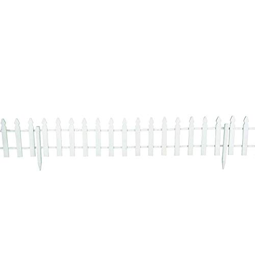 Giantex 12 FT Garden Fence Outdoor Patio Lawn Fencing Outdoor Low Garden Border Edging Fences, White by Giantex