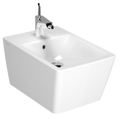 Nameeks Vitra 4466-003-0288-638845331074 T4 Collection Wall Mount Ceramic Bidet, White