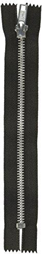 """Coats Thread & Zippers F24A14-002 Fashion Metal Aluminum Closed Bottom Zipper, 14"""", Black"""