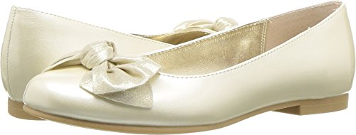 NINA Girls' kaytelyn Ballet Flat, Ivory, 13 M US Little -
