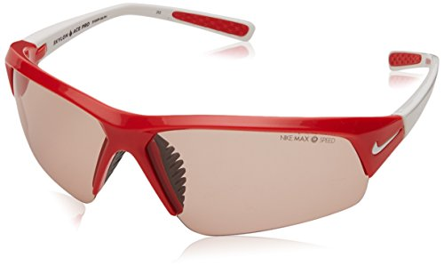 Nike Skylon Ace Pro PH Sunglasses, Hyper Red/White, Max Transitions Speed Tint Lens