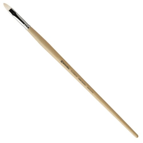 Escoda Clasico 4528 Oil & Acrylic Chungking White Bristle Paint Brush Short Filbert; Size 8