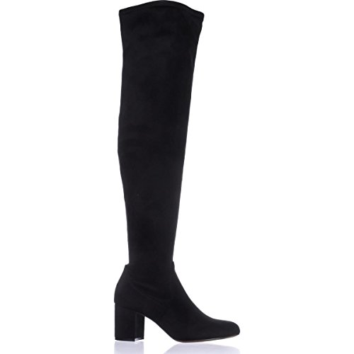INC International Concepts I35 Rikkie Wide Calf Over-The-Knee Boots - Black M00Z8Pjfnq