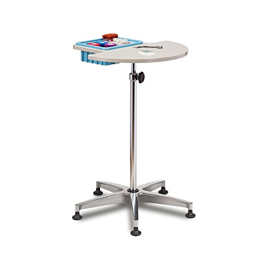 - Phlebotomy Blood Draw Stand with work surface and supply bin