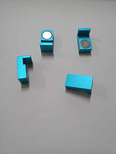 Magnetic Parallel Keepers, Holders. Vise, CNC,Kurt,Machinist Tools (Blue)