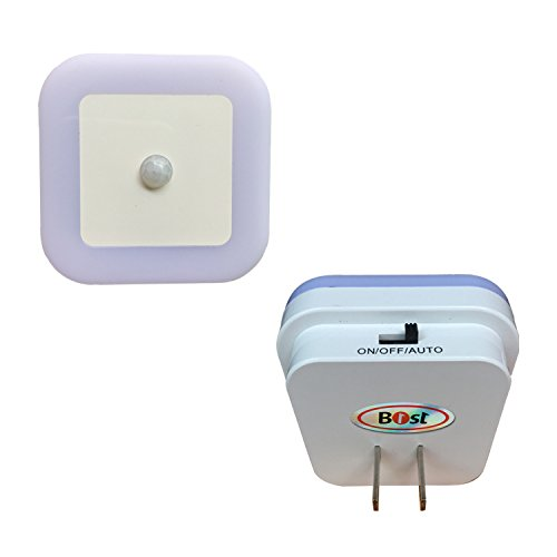 Plug in Motion Sensor light,B1ST LED Kids Night Light Upgraded 3-Mode Version 1W Infrared Activated Offset Plug Prong Plug in Lamp with Fireproof Material for Baby Nursery Bedroom White Pack of 2 - Motion Sensor Night Light Ac