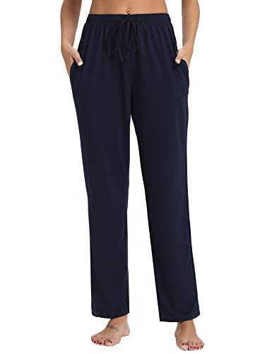 Aibrou Womens Pajama Pants Cotton Stretch Knit Lounge Pants Bottoms (Stretch Lounge Pants For Women)