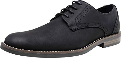 (JOUSEN Men's Dress Shoes Suede Plain Toe Oxford Casual Dress Shoes for Men)