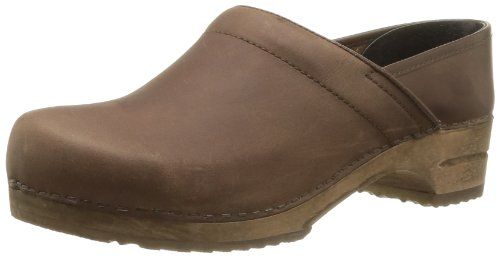 Sanita Wood-Jamie closed 1201005M-78 - Zuecos de cuero para hombre marrón - Braun (Antique Brown 78)