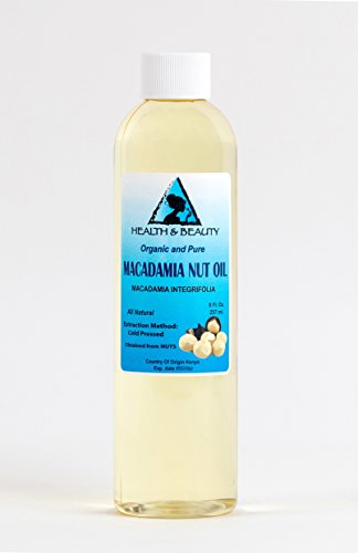 Macadamia Nut Oil Organic Carrier Cold Pressed 100% Pure 8 oz