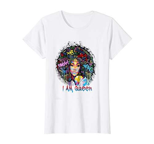 Womens I Am Queen - woman power shirt