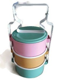 Colorful Classic Thai Traditional 3-stack Food/Tiffin Carrier