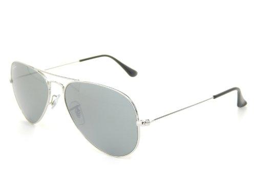 Grey Silver Aviator W3275 Rb3025 Crystal Ray New 55mm Ban Sunglasses Mirror Wq0f1nwXU