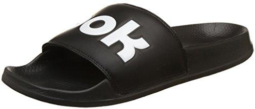 Adulto Unisex Piscina y 000 Negro White Classic Black Splt Slide Playa de Reebok Zapatos qwH810qa