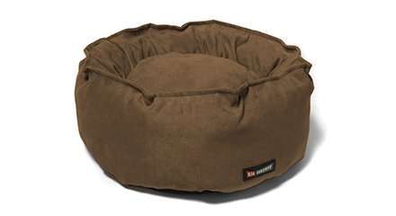 Big Shrimpy Catalina Bed - For Pets up to 10 Lbs - Small Walnut Suede - - Big Shrimpy Catalina Bed