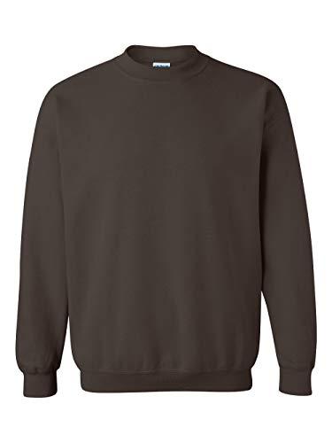 - Gildan Men's Heavy Blend Crewneck Sweatshirt - Large - Dark Chocolate
