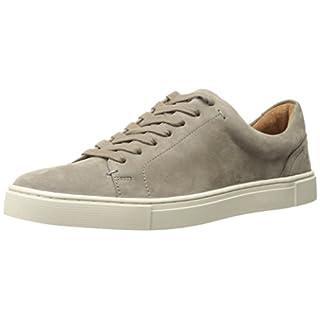 FRYE Women's Ivy Low LACE Fashion Sneaker, Grey Soft Tumbled Nubuck, 6 M US