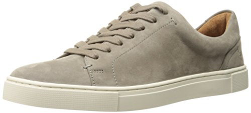 FRYE Women's Ivy Low LACE Fashion Sneaker, Grey Soft Tumbled Nubuck, 6 M US