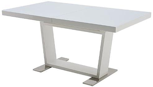 Tischplatte weiß hochglanz  Robas Lund Tisch Esstisch Manhattan ausziehbar Tischplatte Glas ...