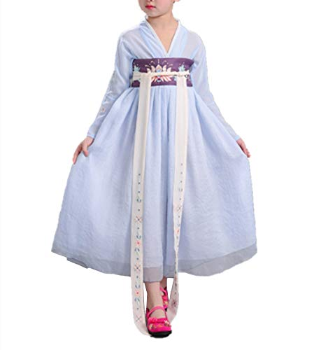 Kids Chinese Costumes (Girls Child Ancient Chinese Traditional Cosplay Costumes Hanfu Fancy Dress (150cm,)
