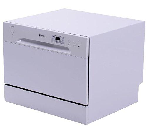 K&A Company Portable Compact Countertop Dishwasher Dish T...