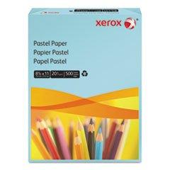 * Multipurpose Pastel Colored Paper, 20-lb, Letter, Blue, 500 Sheets/Ream