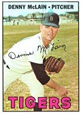 - 1967 Topps Regular (Baseball) card#420 Denny McLain of the Detroit Tigers Grade Fair/Poor