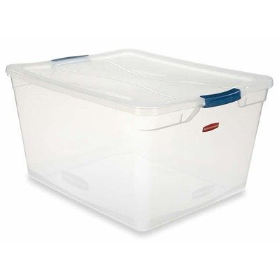 Rubbermaid File Tote (15 Quart Latching Lid Storage Tote by)