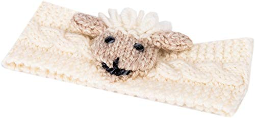 Irish Aran Baby Shepley Woollen Headband With Cute Sheep