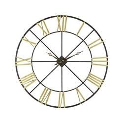 Aspire Wall Clock Baldwin Oversized 48 Metal, Gold