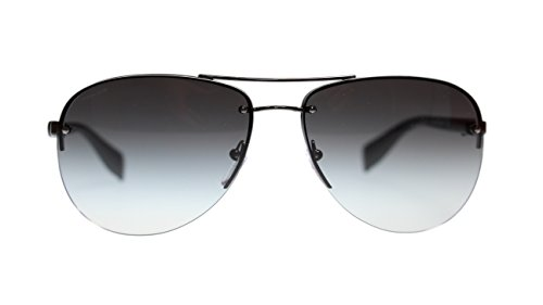 (Prada Men's Sunglasses PS56MS 5AV3M1 Gunmetal/Grey Gradient Lens Rectangular)