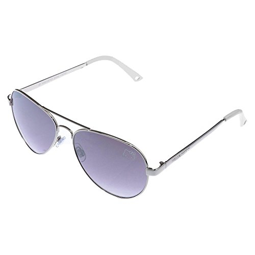 Womens Contemporary Hello Kitty Classic Silver Aviator Sunglasses (White - Sunglasses Kitty Hello