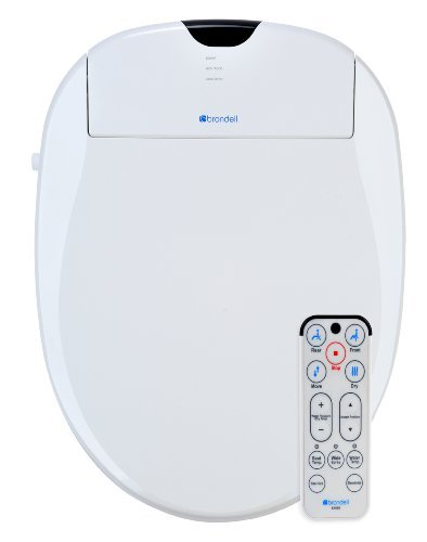 Brondell S1000-EW Swash 1000 Advanced Bidet Elongated Toilet Seat, White (Advanced Toilet Bidet White Seat)