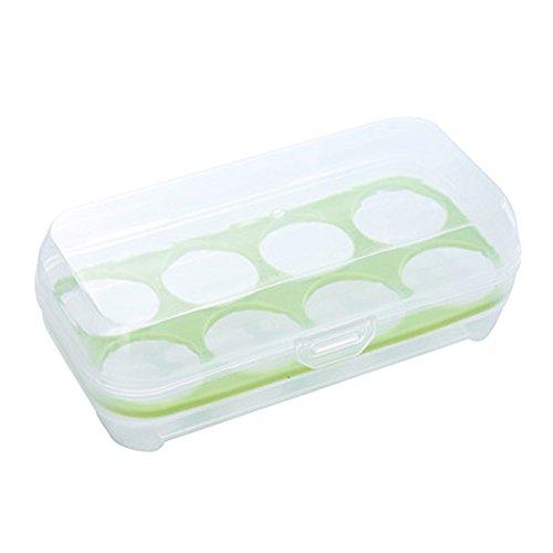 JAMOR 8 Grid Egg Box Kitchen Egg Storage Box Refrigerator Egg Crisper Box Picnic Camping Necessary (Green) by JAMOR (Image #7)