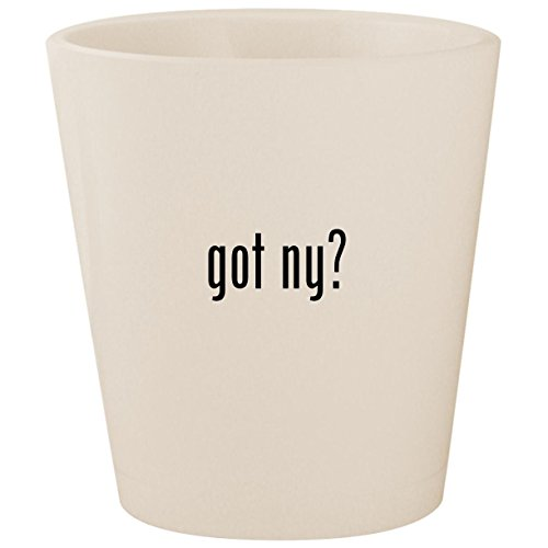 got ny? - White Ceramic 1.5oz Shot Glass