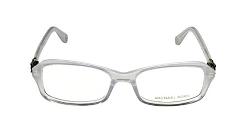 Michael Kors 868 WomensLadies Designer Full-rim Spring Hinges EyeglassesEyewear (50-17-135 Transparent White  Clear  Gunmetal)